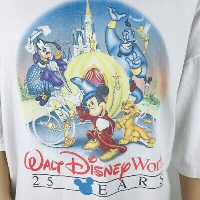 VTG 1996 90s Disney World 25th Anniversary T Shirt One Size RARE Park Only