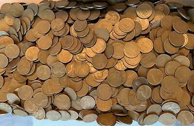 Lot of 100 WHEAT PENNIES Two Rolls 1940-1958