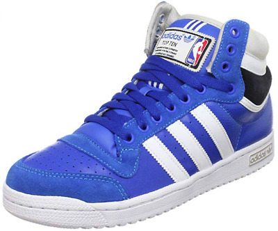 adidas Top Ten Hi Blau Leder Herren Sneakers Schuhe NBA All