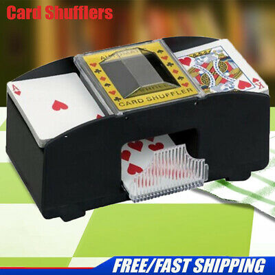 Automatic Card Shuffler Deck Casino Playing Cards Sorter Poker Games Black Pro