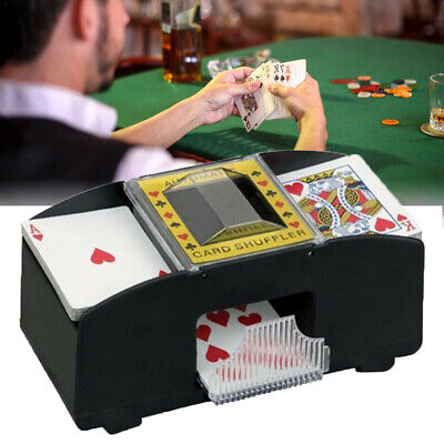 Automatic Card Shuffler Deck Casino Playing Cards Sorter Poker Games Black Pro X