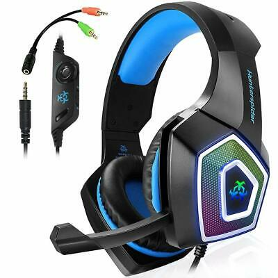 3X(Hunterspider Gaming Headset For PS4, 3.5Mm Stereo Sound Cable Headset Wi X3C5