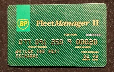 BP Fleet Manager II Credit Card exp 1998♡Free Shipping♡cc515
