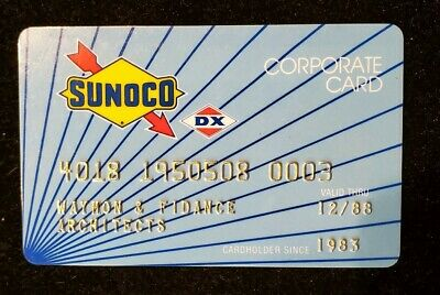 Sunoco DX Corporate Credit Card exp 1988♡Free Shipping♡cc517