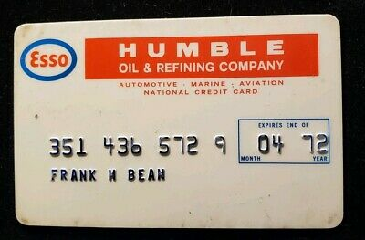 Esso Humble Oil credit card exp 1972♡Free Shipping♡cc529