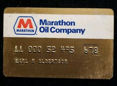 Marathon Oil credit card exp 1978♡Free Shipping♡cc531
