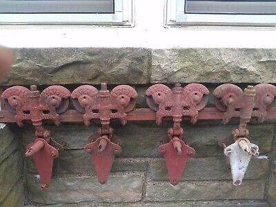 Antique Myers Stay On Barn Door Hardware Rollers and 20' Track Vintage