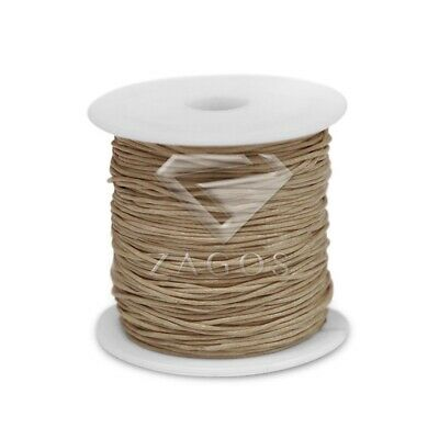 70m/Roll Waxed Cotton Cord Jewellery Making Beading Thread String 1x1mm Khaki