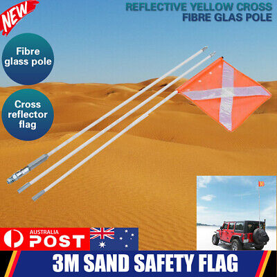3M Sand Safety Reflector Flag 4WD Towing Offroad 4x4 Simpson Desert Vehicle AU