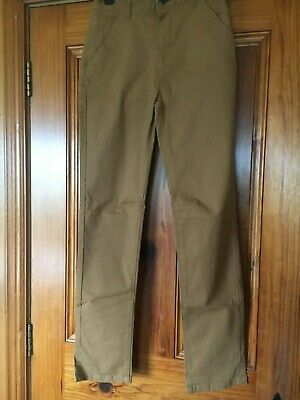 """Dunnes Boys Tan Brown Chinos Age 12 - 26"""" Waist - Adjustable Feature 98% Cotton"""