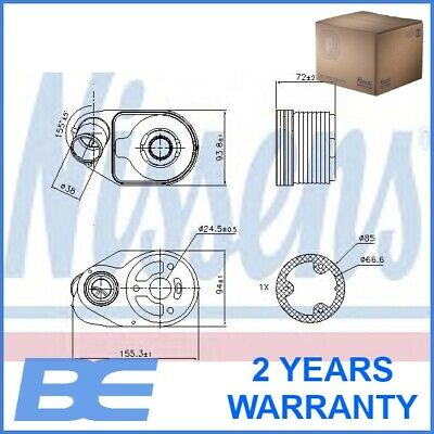 Fiat Iveco ENGINE OIL COOLER Genuine Heavy Duty Nissens 90796 5801555580