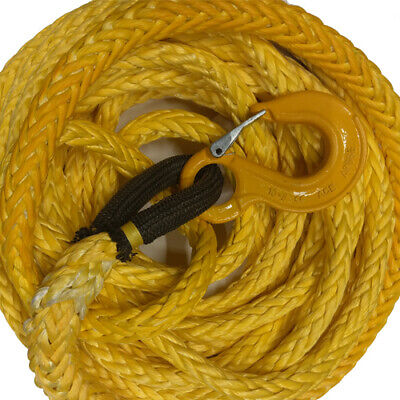 13.5m x 18mm HMPE Dyneema style winch rope with Grade 80 Hook