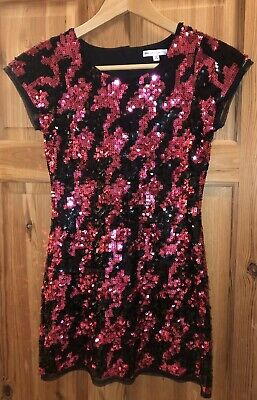 Marks & Spencer Girls Dress Age 10 Size 9/10 Years Sequin Christmas Party M&S