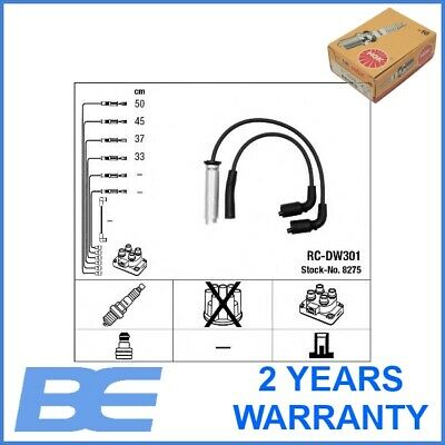 Chevrolet Daewoo Fso IGNITION CABLE KIT Genuine Heavy Duty Ngk 8275 96305387