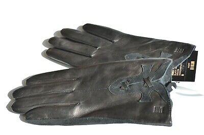 Women's FRYE Gloves 100% Genuine Lamb Leather Suede Black Size Small NEW $118