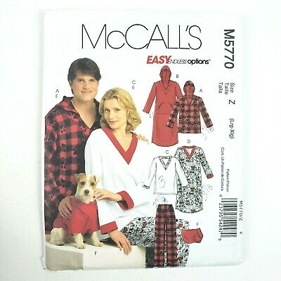 Pants and Shorts  Sewing Pattern Top McCall/'s 4278 Unisex Nightshirt