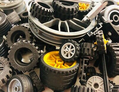 Axles Wheels 92 Pieces Plus Free Box Free Shipping New LEGO  Lot of Tires