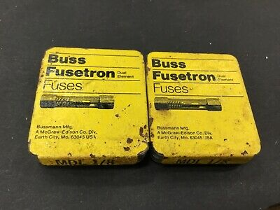"""5 Fusetron MDL 1//8 Time-Delay 1//4x1 1//4/"""" Glass Fuses"""