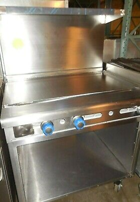 "Used! Imperial - 36"" Range With Manual Griddle & Open Cabinet, & Natural Gas."