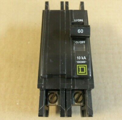 QOU260 Square D Circuit Breaker 60 Amp 2 Pole 120//240V