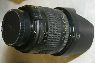 Nikon Nikkor 28-200mm AF f/3.5-5.6 G ED Zoom Lens - CLEAN OPTICS & NICE! w/hood