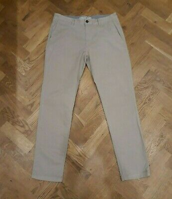 Joules Men's Dark Beige Laundered Chinos Trousers W34 L32