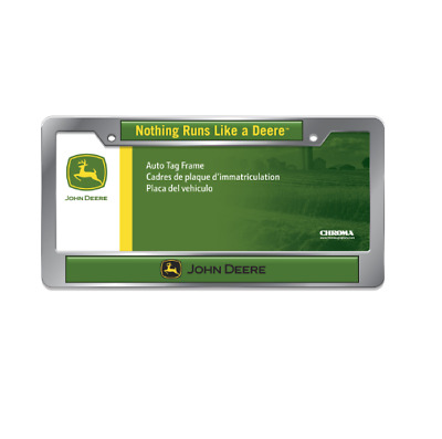 John Deere Chrome License Plate Frame #LP66186