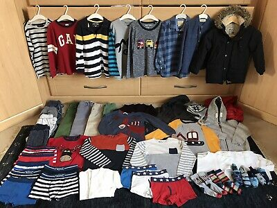 Huge 51 Items Boys Winter Clothes Clothing Bundle Age 5-6 Excellent Condition