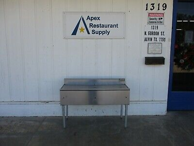 """Eagle Group WB4-18  Stainless 48"""" Underbar Drainboard #4811"""
