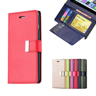 For iPhone 11 Pro Max Leather Wallet Case Flip Card Shockproof Cover