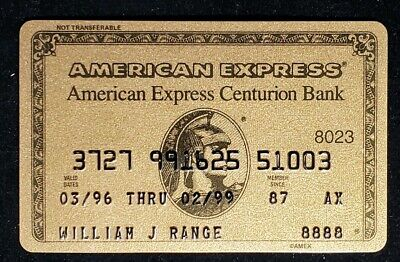 American Express Centurion Bank Gold Credit Card exp 1999 ♡Free Shipping♡cc416