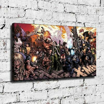 "12""x22"" X men Poster HD Canvas prints Painting Home decor Room Wall art Pictures"