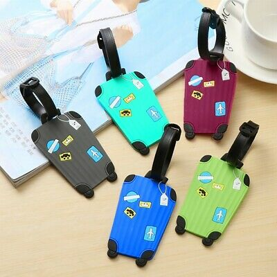 5Pcs Travel Luggage Tag Metal Suitcase Baggage Bag Office Name Address ID Label
