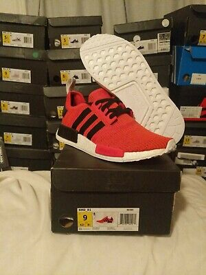 ADIDAS NMD R_1 Ultra Boost R1 Mens Red Shoes Running Hamburg