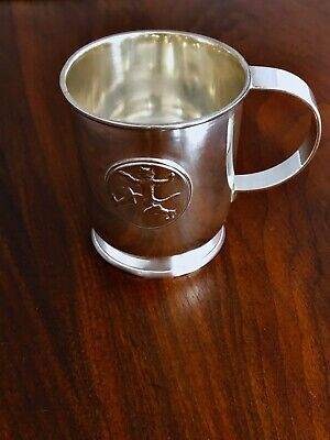 Guldsmedsaktiebolget Swedish 833 Silver Baby Cup Puss In Boots Monogram Peter