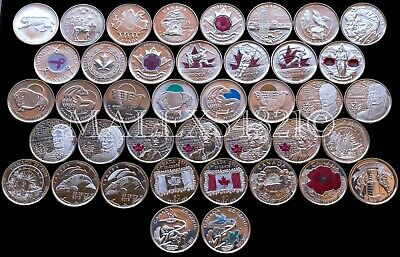 🇨🇦Canada Complete Commemorative 25 Cents Set (91 Coins) Uncirculated