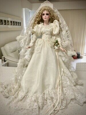 "Vintage Hillview lane doll Bride doll 1995 stunning 23"" tall"