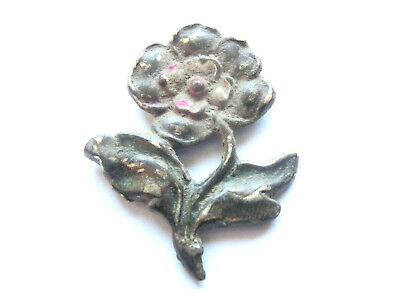 Amazing BYZANTINE Enameled Silver BROOCH / APPLIQUE ***Flower*** > Ancient relic