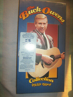 """Buck Owens """"Collection 1959-1990"""" Rhino 3CD BOX+ 80 pg book Out of Print SEALED"""