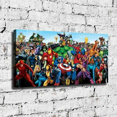 "12""x24"" Marvel hero HD Canvas prints Painting Home decor Room Wall art Picture"