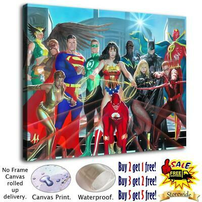 """12""""x16"""" Justice League HD Canvas prints Paintings Home decor Wall art Pictures"""