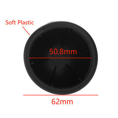 50mm New Black Rubber Tow Bar Ball Case Towball Protect Car Hitch Cover~~