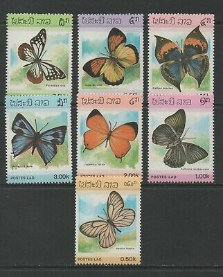 Thematic Stamps Animals - LAOS 1986 BUTTERFLYS 883/9 6v mint