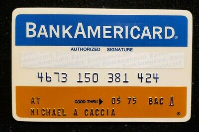 BankAmericard First National Bank Chicago Credit Card exp75♡Free Shipping♡cc117A