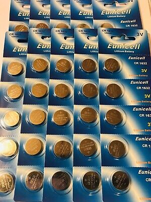 50 X CR1632 Genuine EUNICELL 3V Lithium COIN CELL BUTTON BATTERIES DL1632 LM1632