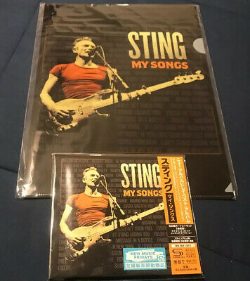 STING My Songs SHM CD w Bonus Track 1st Pressing Clear Folder OOP