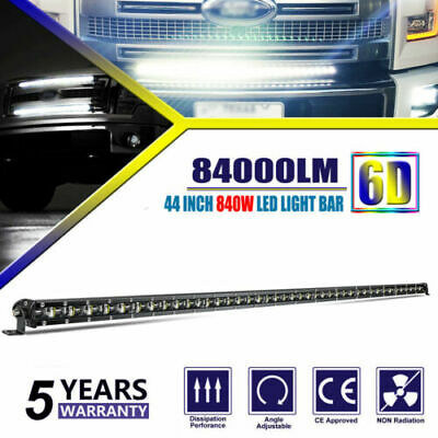 "CoLight 42"" 44"" LED Light Bar Single Row Spot Flood Combo Beam UTV PUC SUV ATV"