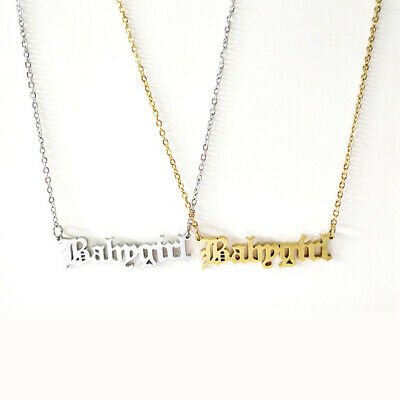 Fashion Cute Babygirl Old English Necklace Pendants Lovely Gift For Daughter n