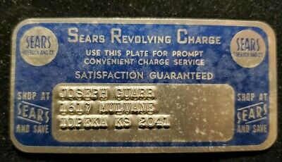 Sears Revolving Charge METAL CARD ♡Free Shipping♡cc148♡Princess size