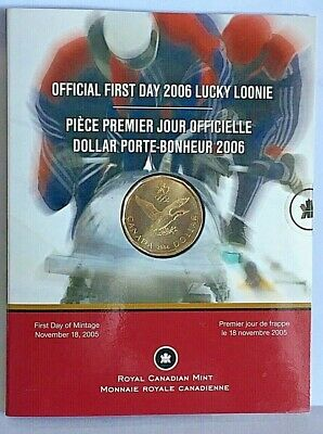 CANADA OFFICIAL OLYMPIC 2006 LUCKY LOONIE 1st DAY STRIKE IN A KEEPSAKE FOLDER #3